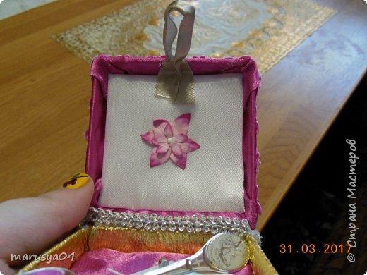 Попросили на работе обклеить коробочку под ложечку для новорожденной... Ну обклеила - коробочка не закрылась - пришлось делать из нее шкатулочку...короче - Остапа понесло... фото 3