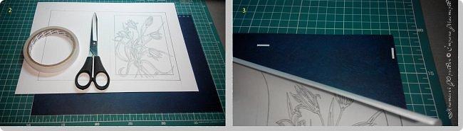 """Здравствуйте! Вашему вниманию хочу представить """"МК"""" по созданию открытки. Рисунок для эскиза взят на просторах интернета, изменён и доработан под """"вырезалку"""". Размер открытки 12х16см. фото 3"""