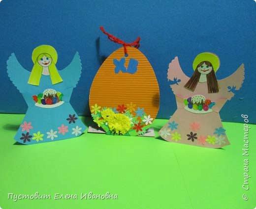 """Зимой делали рождественского ангелочка, детворе игрушка понравилась.Решили сделать весеннего ангелочка с пасхальными яичками. Открыточка-яичко уже """"архивная"""", сделана четыре года назад - такие сувениры можно посмотреть по ссылке: https://stranamasterov.ru/node/536377   фото 1"""