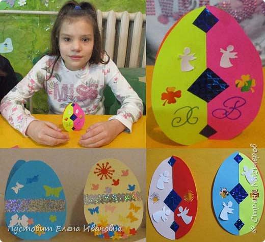 """Зимой делали рождественского ангелочка, детворе игрушка понравилась.Решили сделать весеннего ангелочка с пасхальными яичками. Открыточка-яичко уже """"архивная"""", сделана четыре года назад - такие сувениры можно посмотреть по ссылке: https://stranamasterov.ru/node/536377   фото 10"""