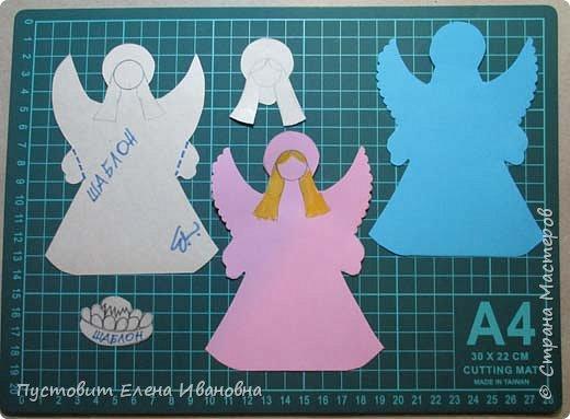 """Зимой делали рождественского ангелочка, детворе игрушка понравилась.Решили сделать весеннего ангелочка с пасхальными яичками. Открыточка-яичко уже """"архивная"""", сделана четыре года назад - такие сувениры можно посмотреть по ссылке: http://stranamasterov.ru/node/536377   фото 11"""