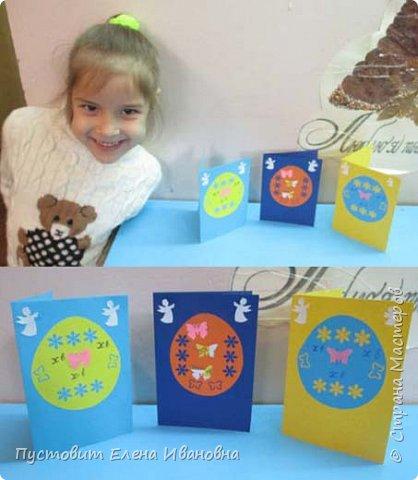 """Зимой делали рождественского ангелочка, детворе игрушка понравилась.Решили сделать весеннего ангелочка с пасхальными яичками. Открыточка-яичко уже """"архивная"""", сделана четыре года назад - такие сувениры можно посмотреть по ссылке: https://stranamasterov.ru/node/536377   фото 6"""