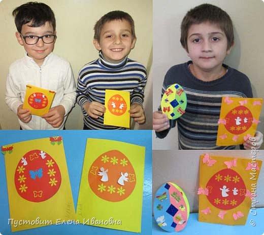 """Зимой делали рождественского ангелочка, детворе игрушка понравилась.Решили сделать весеннего ангелочка с пасхальными яичками. Открыточка-яичко уже """"архивная"""", сделана четыре года назад - такие сувениры можно посмотреть по ссылке: http://stranamasterov.ru/node/536377   фото 7"""