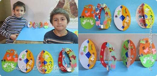 """Зимой делали рождественского ангелочка, детворе игрушка понравилась.Решили сделать весеннего ангелочка с пасхальными яичками. Открыточка-яичко уже """"архивная"""", сделана четыре года назад - такие сувениры можно посмотреть по ссылке: http://stranamasterov.ru/node/536377   фото 9"""