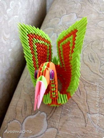 Лебедь (модульное оригами) фото 4