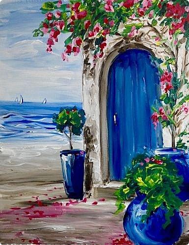 За этой дверью - счастье. Картину сделала на подарок по фото из интернета.  фото 24