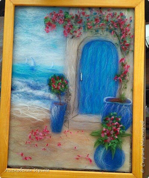 За этой дверью - счастье. Картину сделала на подарок по фото из интернета.  фото 23