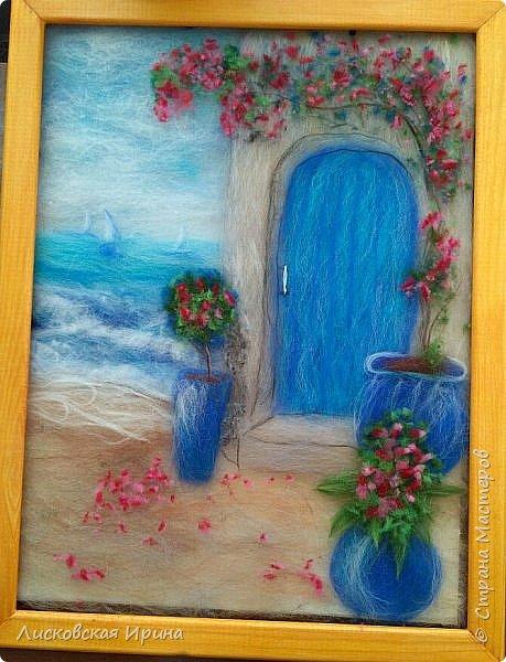 За этой дверью - счастье. Картину сделала на подарок по фото из интернета.  фото 4