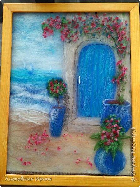 За этой дверью - счастье. Картину сделала на подарок по фото из интернета.  фото 1
