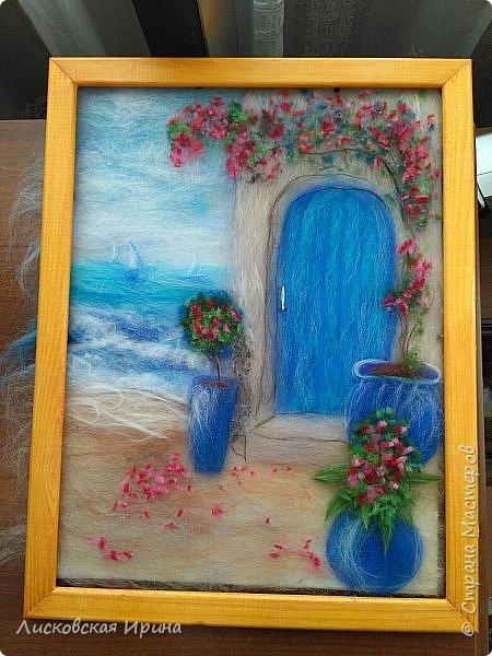 За этой дверью - счастье. Картину сделала на подарок по фото из интернета.  фото 3