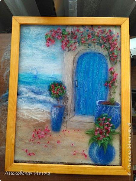 За этой дверью - счастье. Картину сделала на подарок по фото из интернета.  фото 22