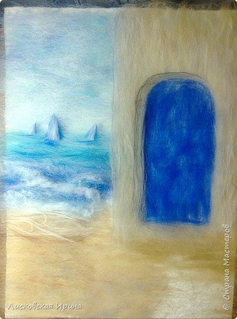 За этой дверью - счастье. Картину сделала на подарок по фото из интернета.  фото 9