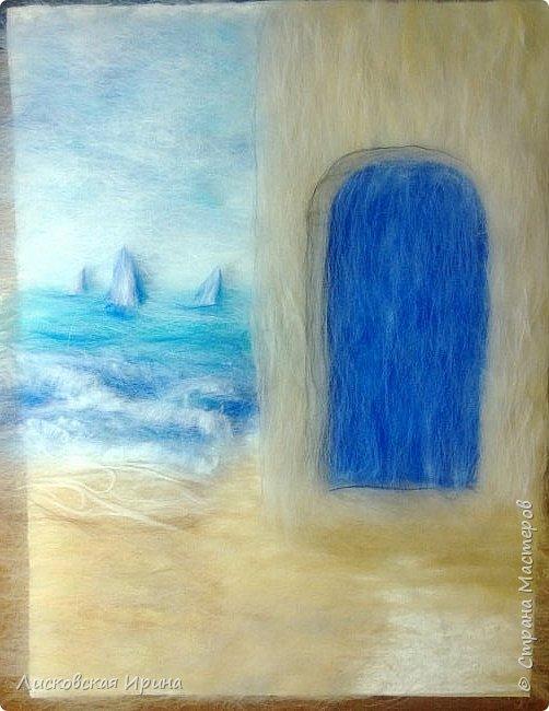 За этой дверью - счастье. Картину сделала на подарок по фото из интернета.  фото 10