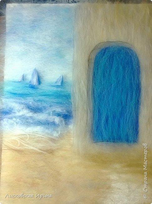 За этой дверью - счастье. Картину сделала на подарок по фото из интернета.  фото 11