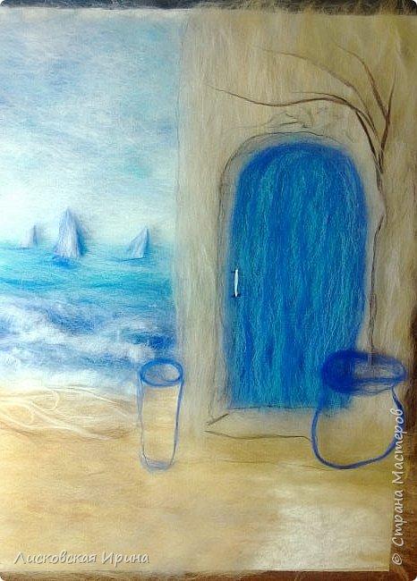 За этой дверью - счастье. Картину сделала на подарок по фото из интернета.  фото 12