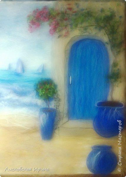 За этой дверью - счастье. Картину сделала на подарок по фото из интернета.  фото 14