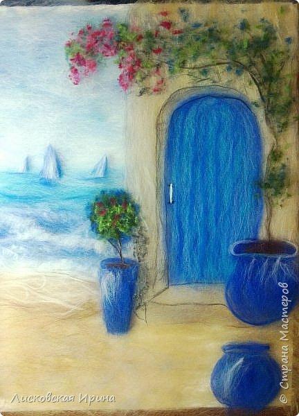 За этой дверью - счастье. Картину сделала на подарок по фото из интернета.  фото 15