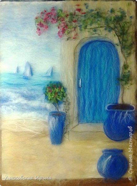 За этой дверью - счастье. Картину сделала на подарок по фото из интернета.  фото 16