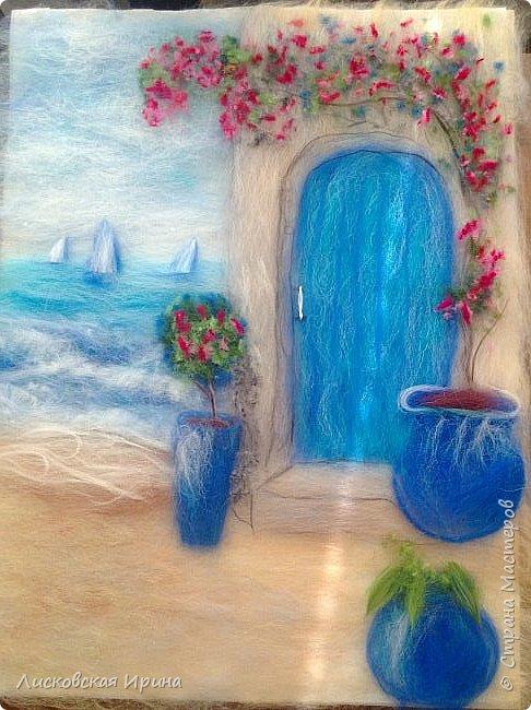За этой дверью - счастье. Картину сделала на подарок по фото из интернета.  фото 17