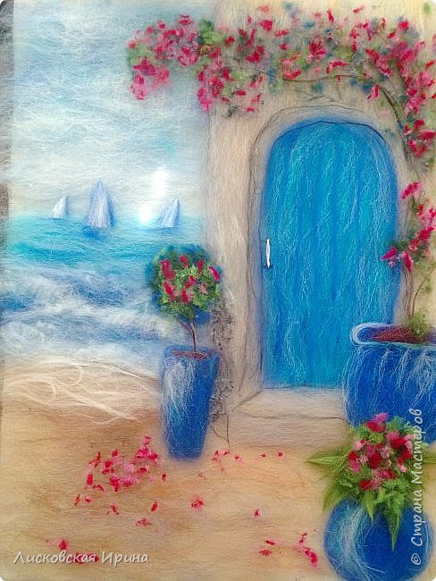 За этой дверью - счастье. Картину сделала на подарок по фото из интернета.  фото 18