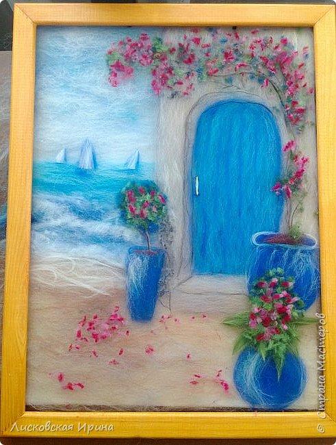 За этой дверью - счастье. Картину сделала на подарок по фото из интернета.  фото 19