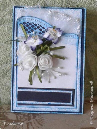 У нас ещё зима, снега полно, а у меня весенние цветочки расцвели присланные Еленой ДЕТСАД http://stranamasterov.ru/user/18423 по  обмену весенними открытками. фото 3