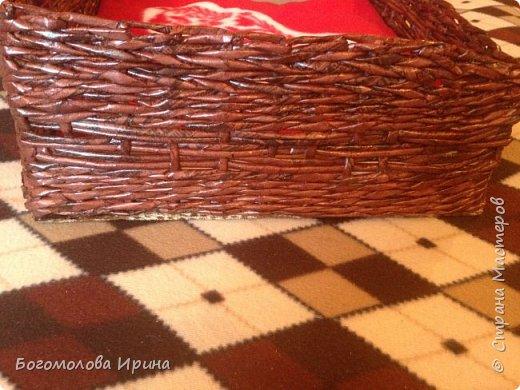 Решила попробовать себя в плетении из газетных трубочек. Сплелась вот такая лежанка для собаки. фото 3