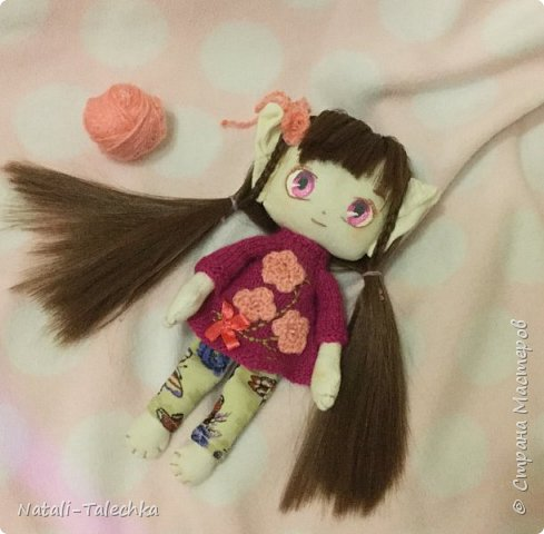 Кукла Эльф)Рост 22 см, вся одежда снимается, волосы можно расчёсывать и делать прически) фото 5