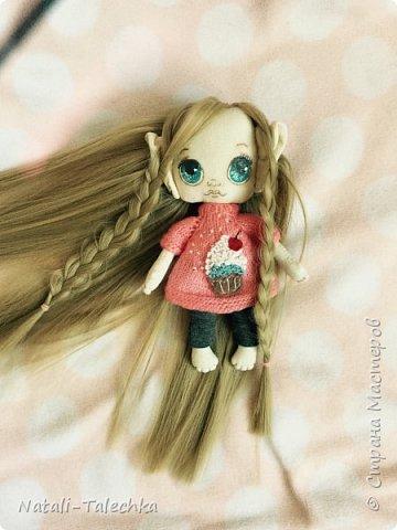 Кукла Эльф)Рост 22 см, вся одежда снимается, волосы можно расчёсывать и делать прически) фото 3