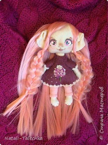 Кукла Эльф)Рост 22 см, вся одежда снимается, волосы можно расчёсывать и делать прически) фото 1