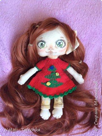 Кукла Эльф)Рост 22 см, вся одежда снимается, волосы можно расчёсывать и делать прически) фото 2
