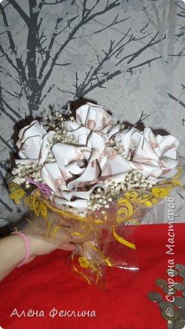 Денежные розы в микрофоне.(Работа на заказ) фото 2