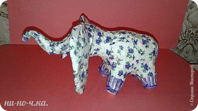 """Мой слоник в стиле """"А-ля Гжель"""". фото 2"""