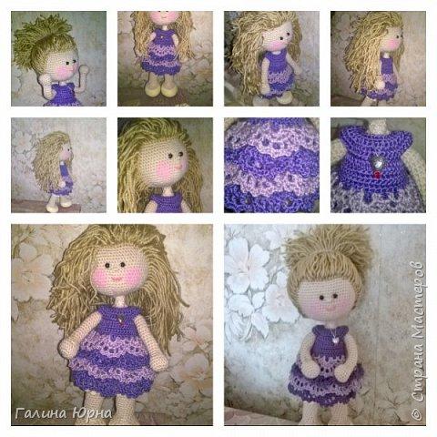 Куколка каркасная связана на заказ. Голова поворачивается, руки/ноги гнутся. Рост куколки без учета волос 29 см. Снимается только платье. фото 1
