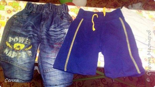 Старые брюки и джинсы стали короткие , решила сделать из них шорты.  фото 1