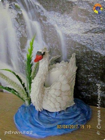 Лебедь -карандашница фото 1