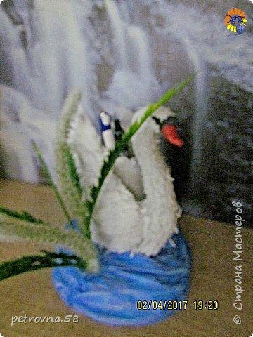 Лебедь -карандашница фото 2