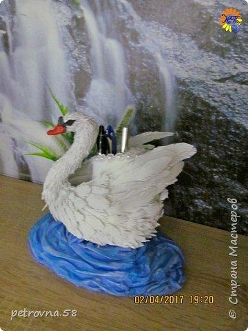 Лебедь -карандашница фото 3