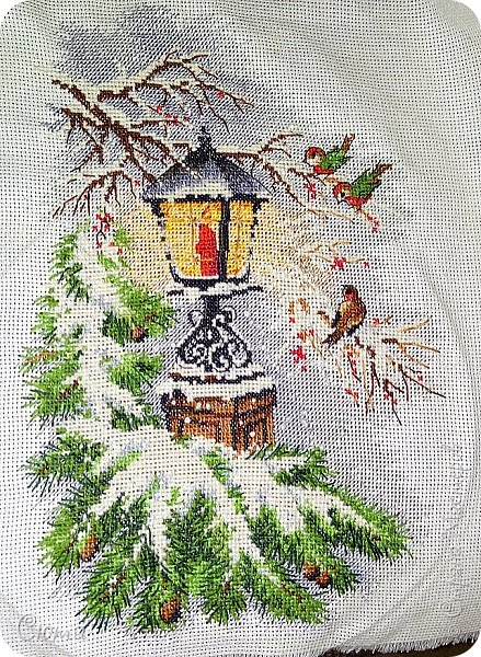 """Вышивка крестом """"Зимний фонарь"""""""