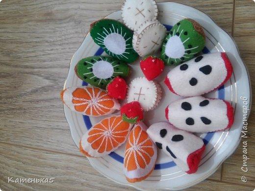 Фетровая еда для дочки фото 6