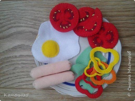 Фетровая еда для дочки фото 8