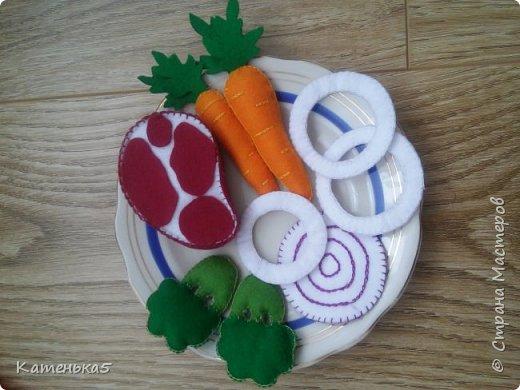 Фетровая еда для дочки фото 11