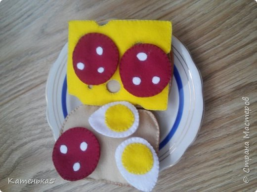 Фетровая еда для дочки фото 14
