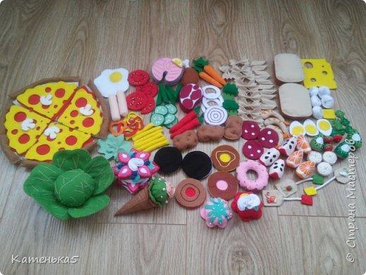 Фетровая еда для дочки фото 16