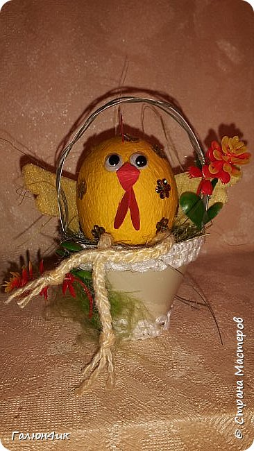 Добрый вечер! В интернете увидела такого цыпленка, ну очень захотелось попробовать сделать себе такого же..... фото 1