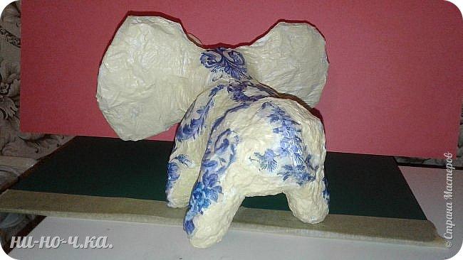 """Мой слоник в стиле """"А-ля Гжель"""". фото 7"""