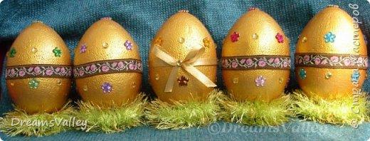 Мой вариант пасхальных яиц. В живую выглядят симпатичнее. фото 1