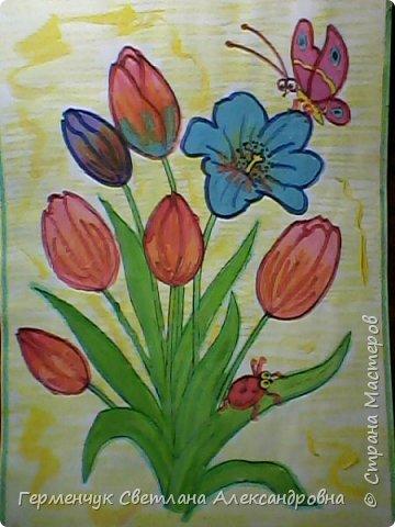 "Раскраски  ""Цветы . Весна""  ребят 4 ""В"" класса (взяты из Интернета) фото 8"