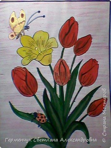 "Раскраски  ""Цветы . Весна""  ребят 4 ""В"" класса (взяты из Интернета) фото 15"