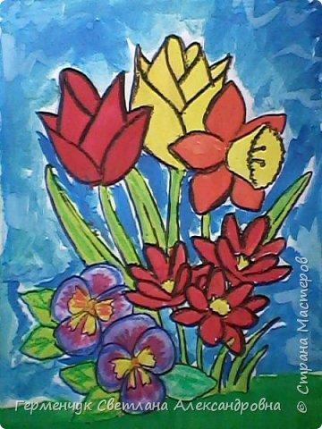 "Раскраски  ""Цветы . Весна""  ребят 4 ""В"" класса (взяты из Интернета) фото 16"